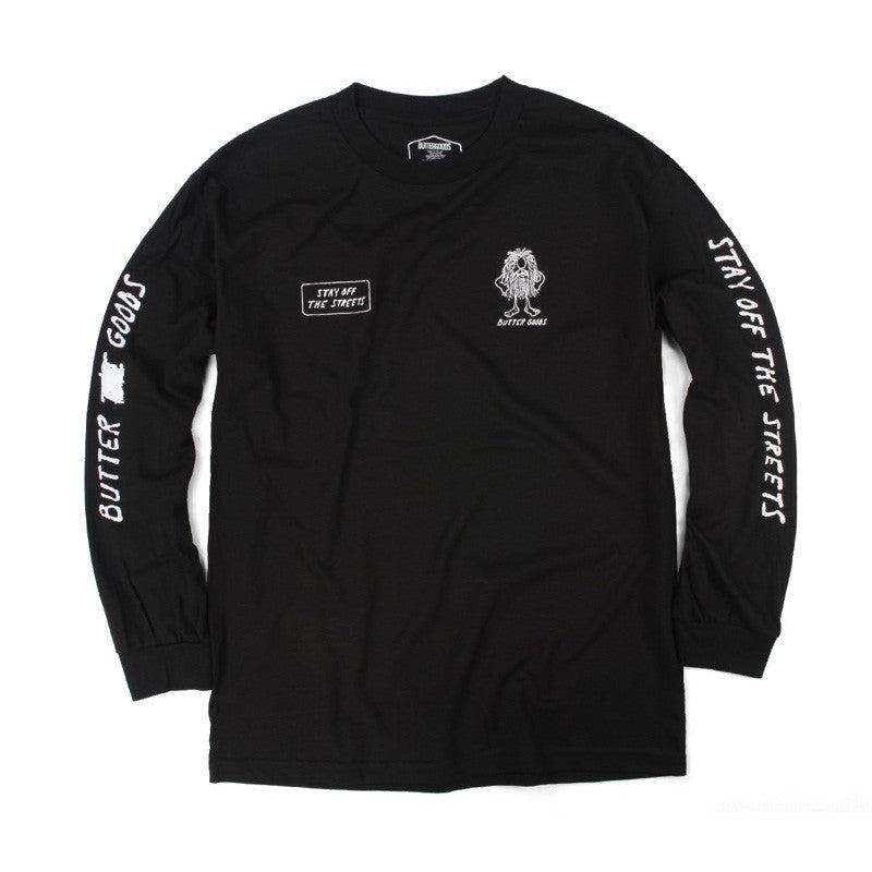Butter Goods PSA Long Sleeve Tee - Black
