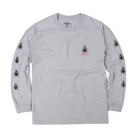 Butter Goods Roach Long Sleeve Tee - Heather Grey