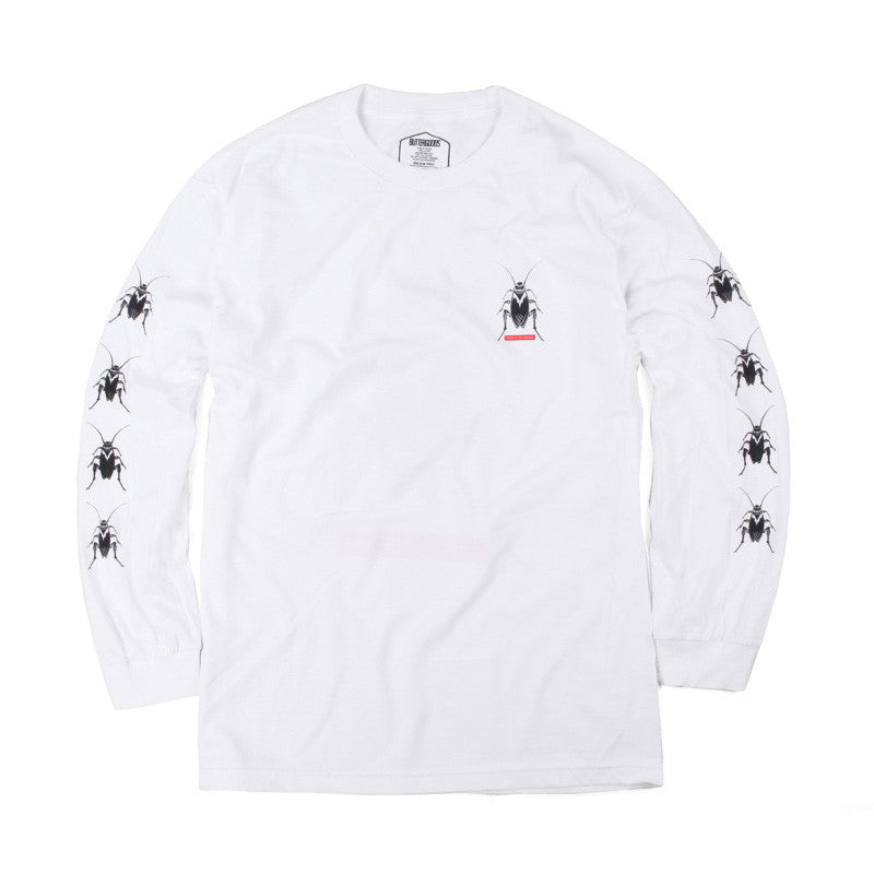Butter Goods Roach Long Sleeve Tee - White