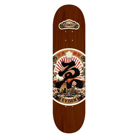 Evisen Skateboards Sake Series Brown Deck