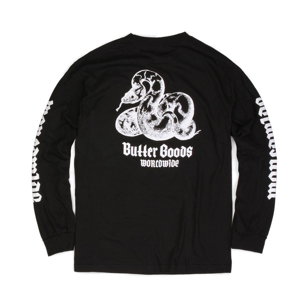 Butter Goods Serpent Long Sleeve Tee - Black