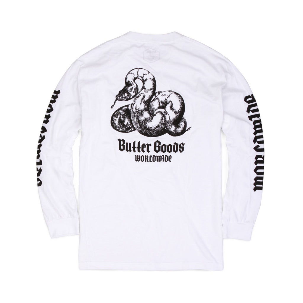 Butter Goods Serpent Long Sleeve Tee - White