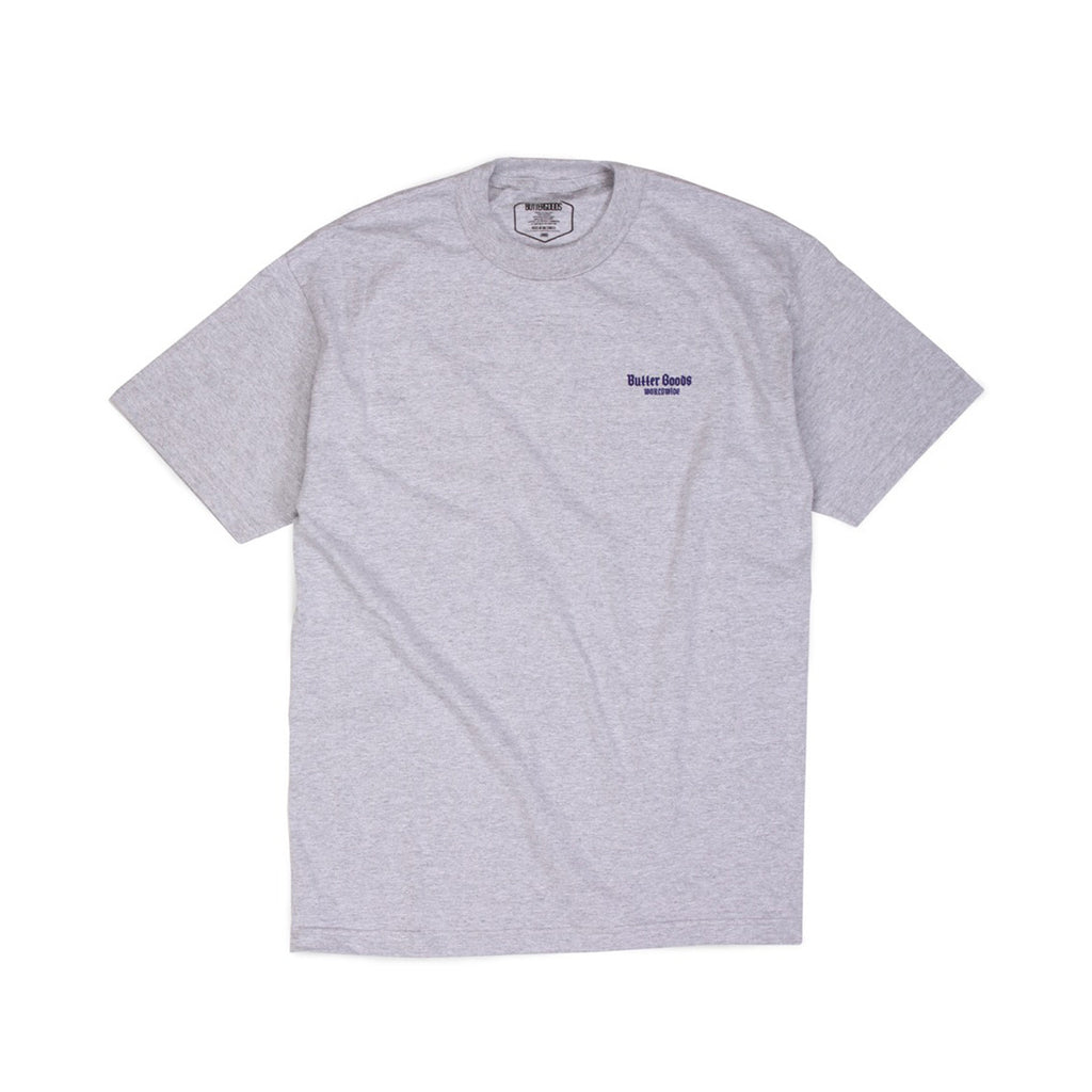 Butter Goods Serpent T-shirt - Heather Grey