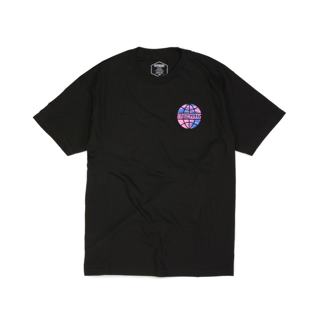 Butter Sports Worldwide Logo T-shirt - Black