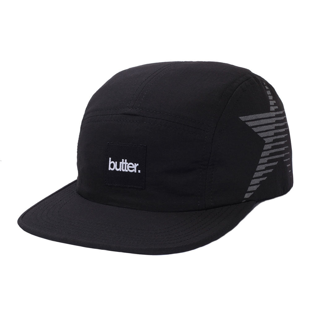 Butter Reflective Star Jogger/Camp Hat - Black