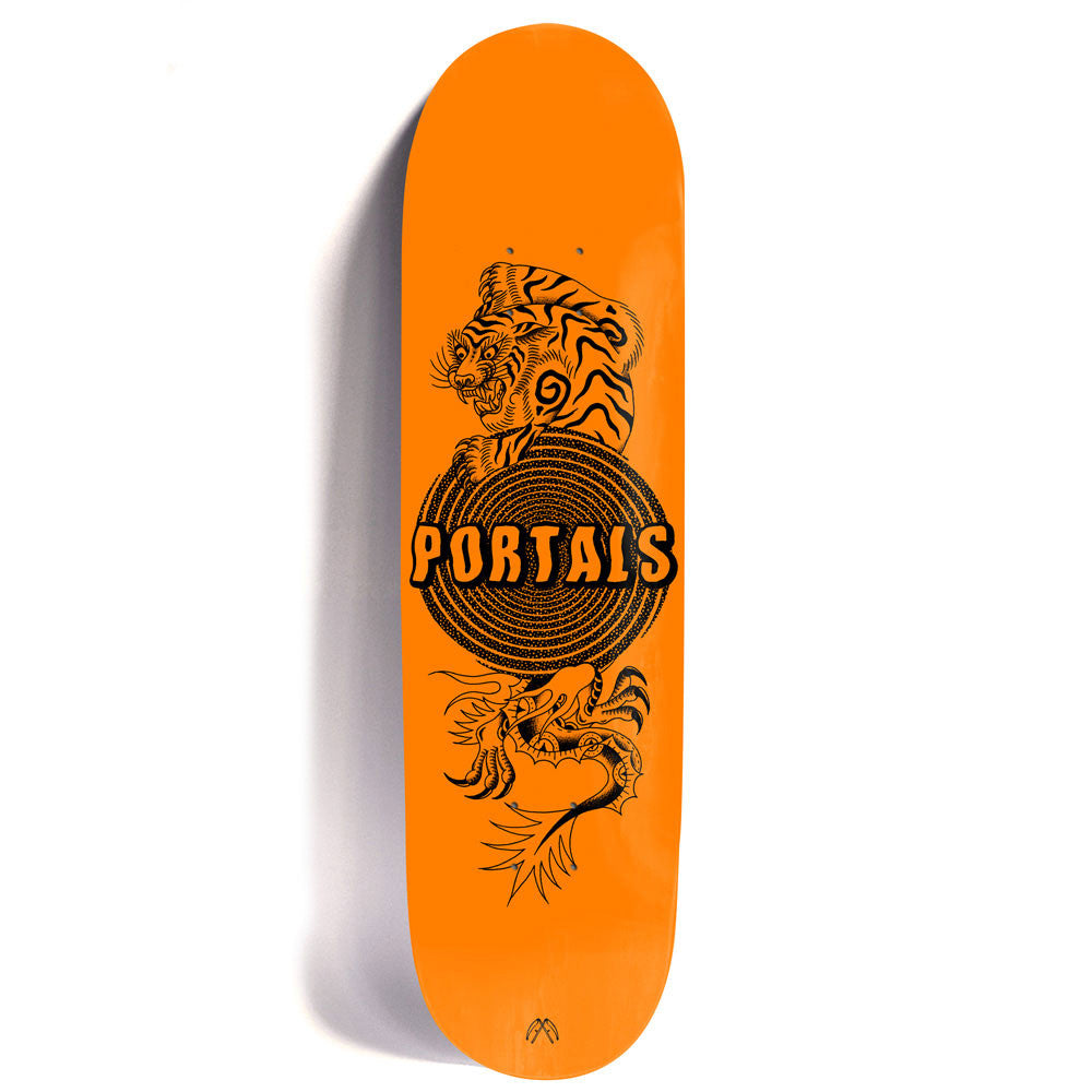 Passport Portals Skateboard Deck (Tiger Orange)