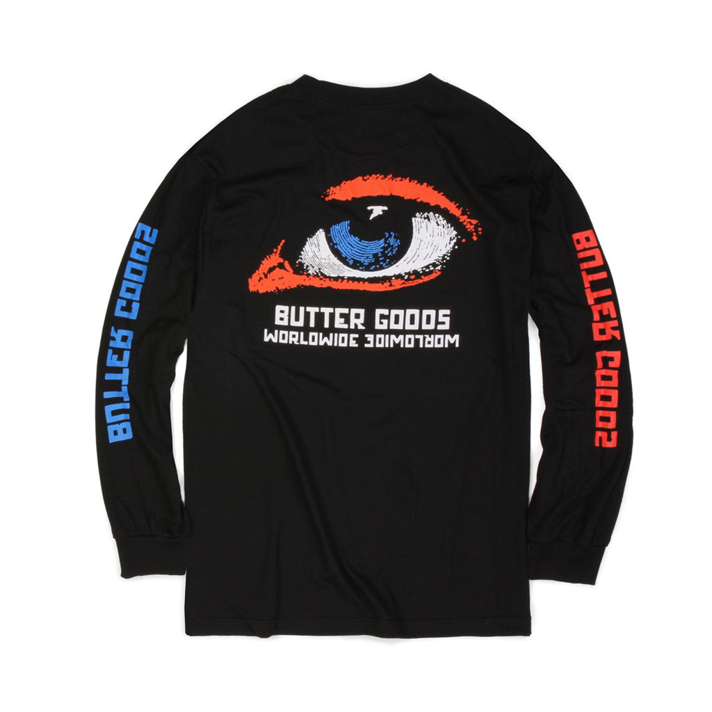 Butter Goods Vision Long Sleeve Tee - Black