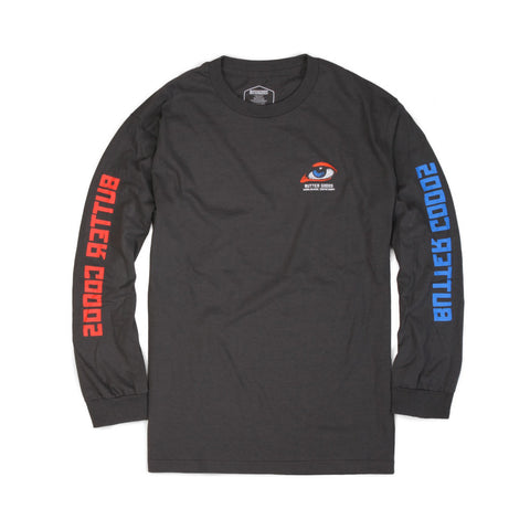 Butter Goods Vision Long Sleeve Tee - Cement