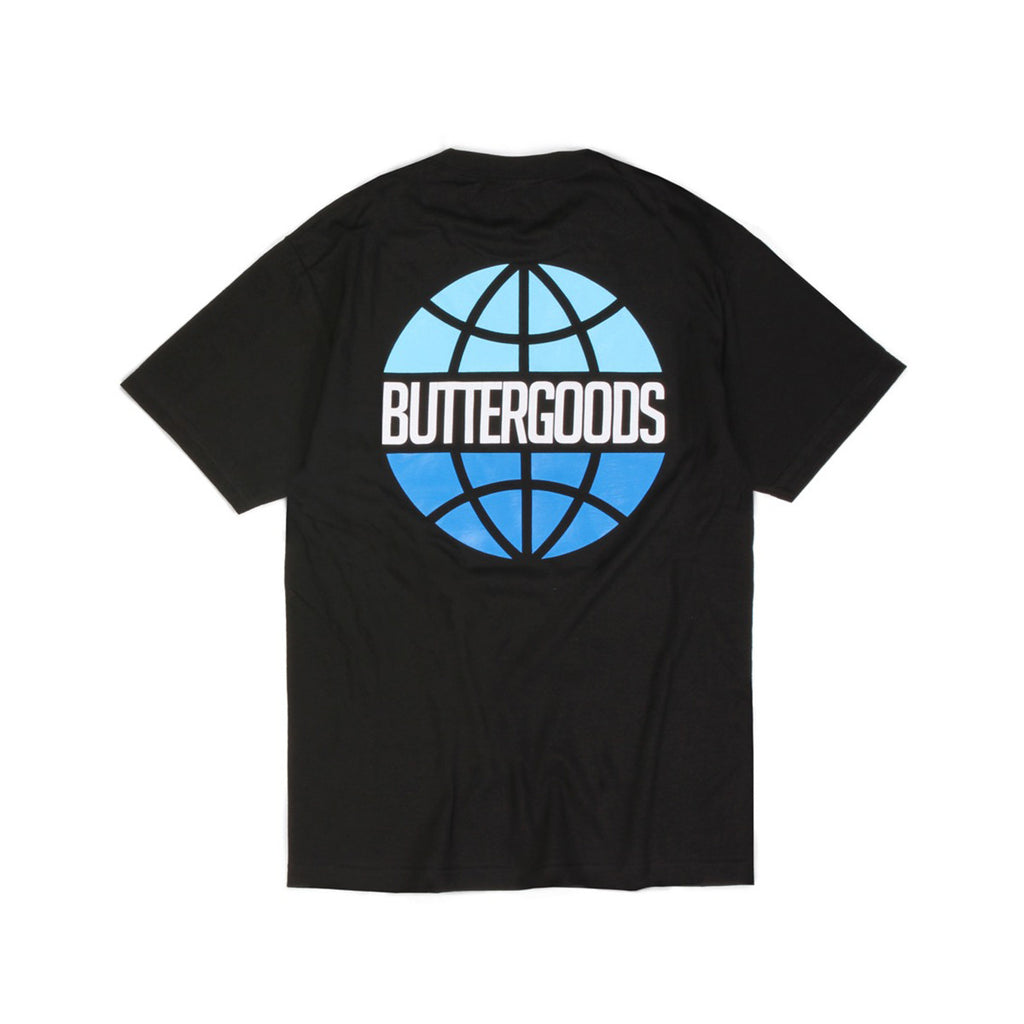 Butter Sky Worldwide Logo T-shirt - Black