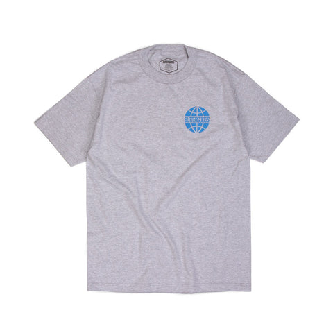 Butter Sky Worldwide Logo T-shirt - Heather Grey