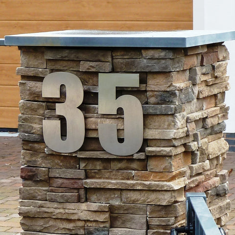 stainless steel house numbers, large house number, impact house number