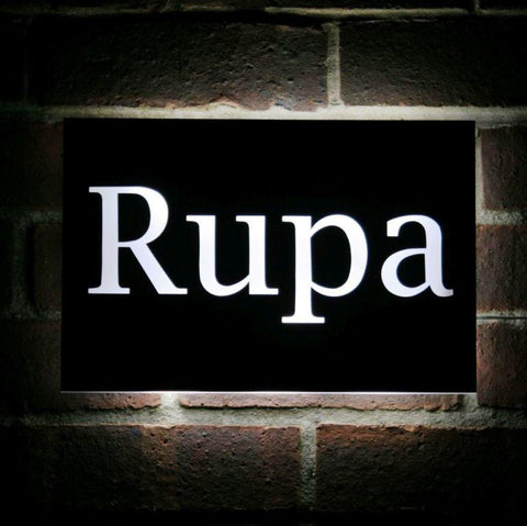 Stainless steel house sign, stainless steel LED sigh, custom made house name, custom made house sign, custom made LED house name