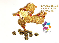 Silk thread Lakshmi Kasu Necklace