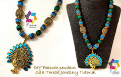 Peacock Silk thread Jewellery Tutorial