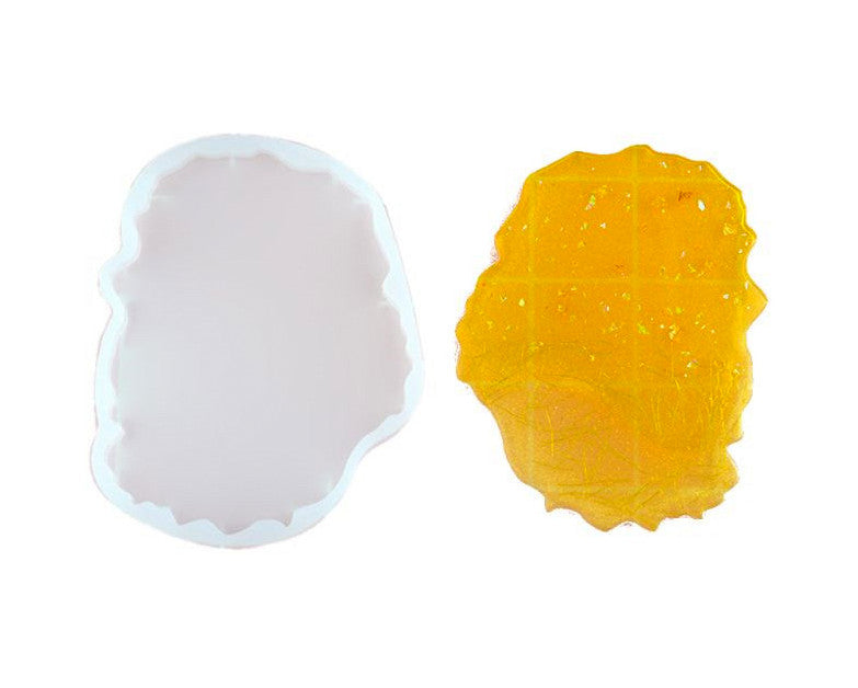 Uneven Resin Coaster Molds Pattern 2, Silicone Mould for Casting with Resin, Epoxy and Concrete