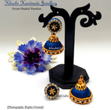 Ocean Shaded Jhumkas - Khushi Handmade Jewellery
