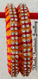 Grand Set of Designer Silk Thread Bangles - Khushi Handmade Jewellery