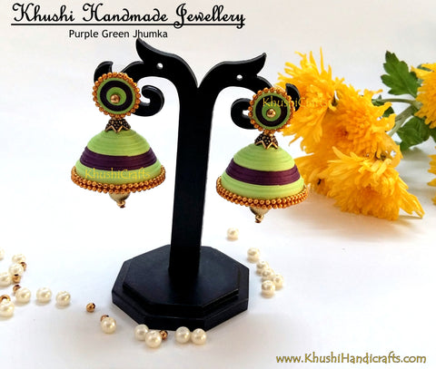 Green N Purple Jhumka