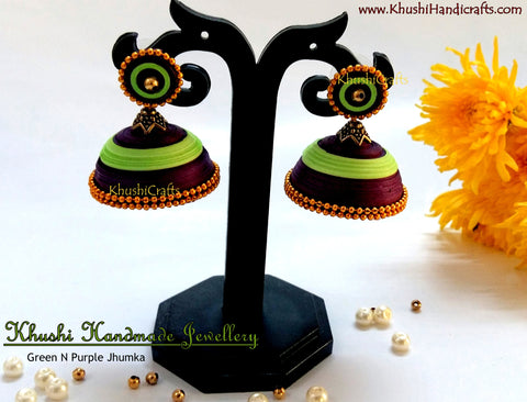 Purple Green Jhumka