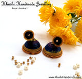 Royal Jhumka 2 - Khushi Handmade Jewellery