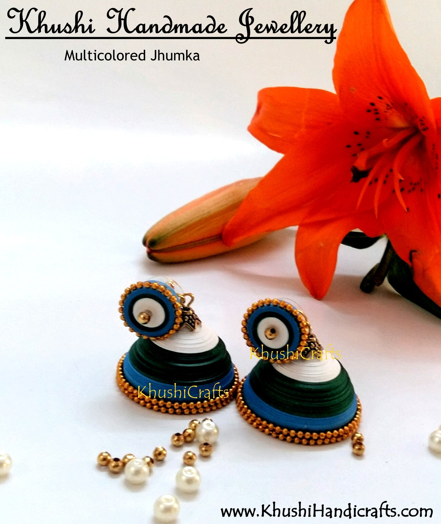 Quilled jhumka Earrings