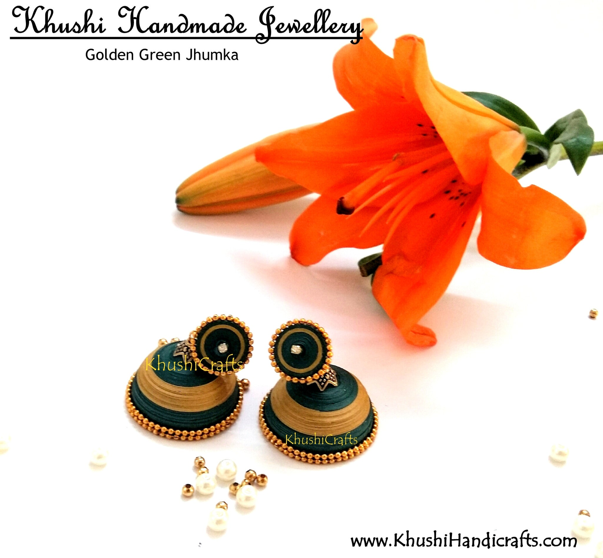 Quilled jhumka Jewellery