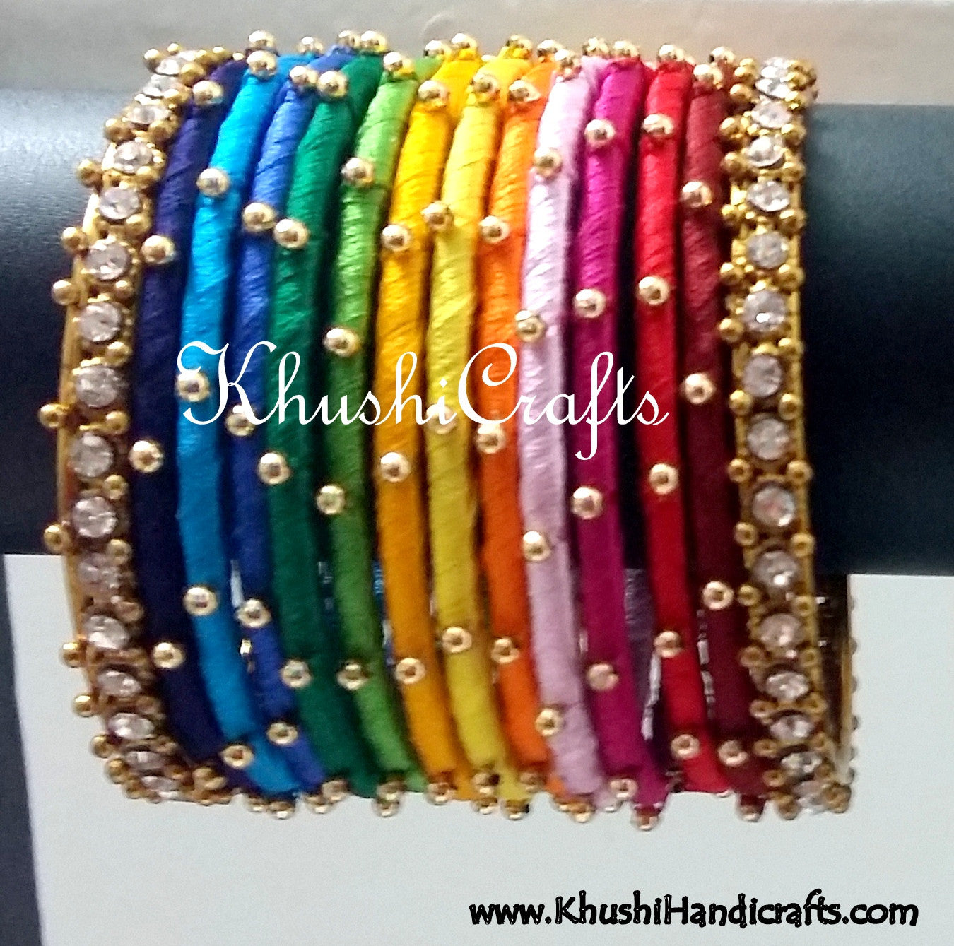 Buy Hand-crafted exquisite Silk Bangles in Rainbow Shades Online ...