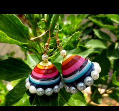 Multicolored jhumka - Khushi Handmade Jewellery
