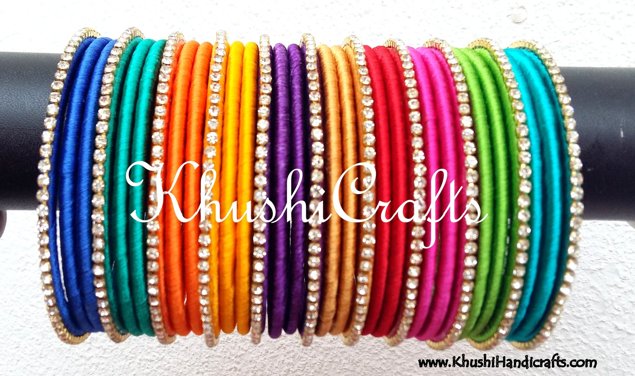 khushi online bangles buy silk pink bridal thread products orange and