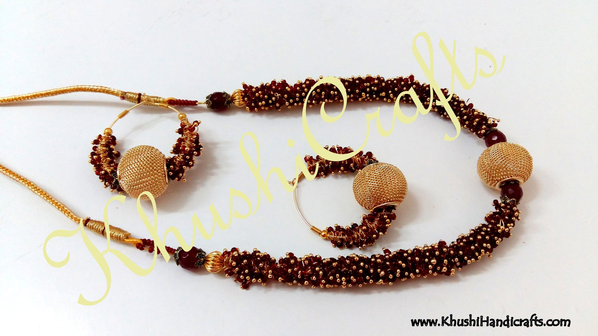 Loreal / Gungaroo Necklace sets - Khushi Handmade Jewellery