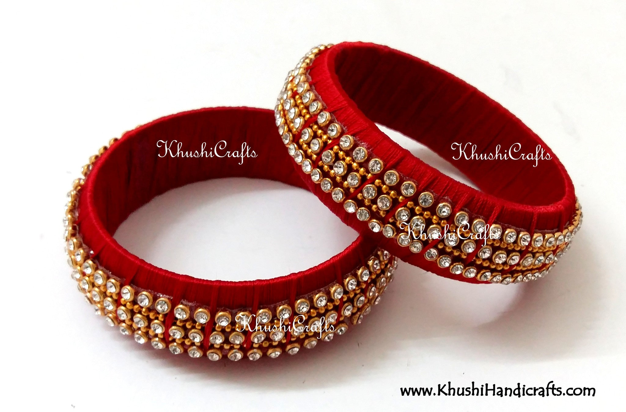 Party Wear Kada Style Designer Silk Bangles