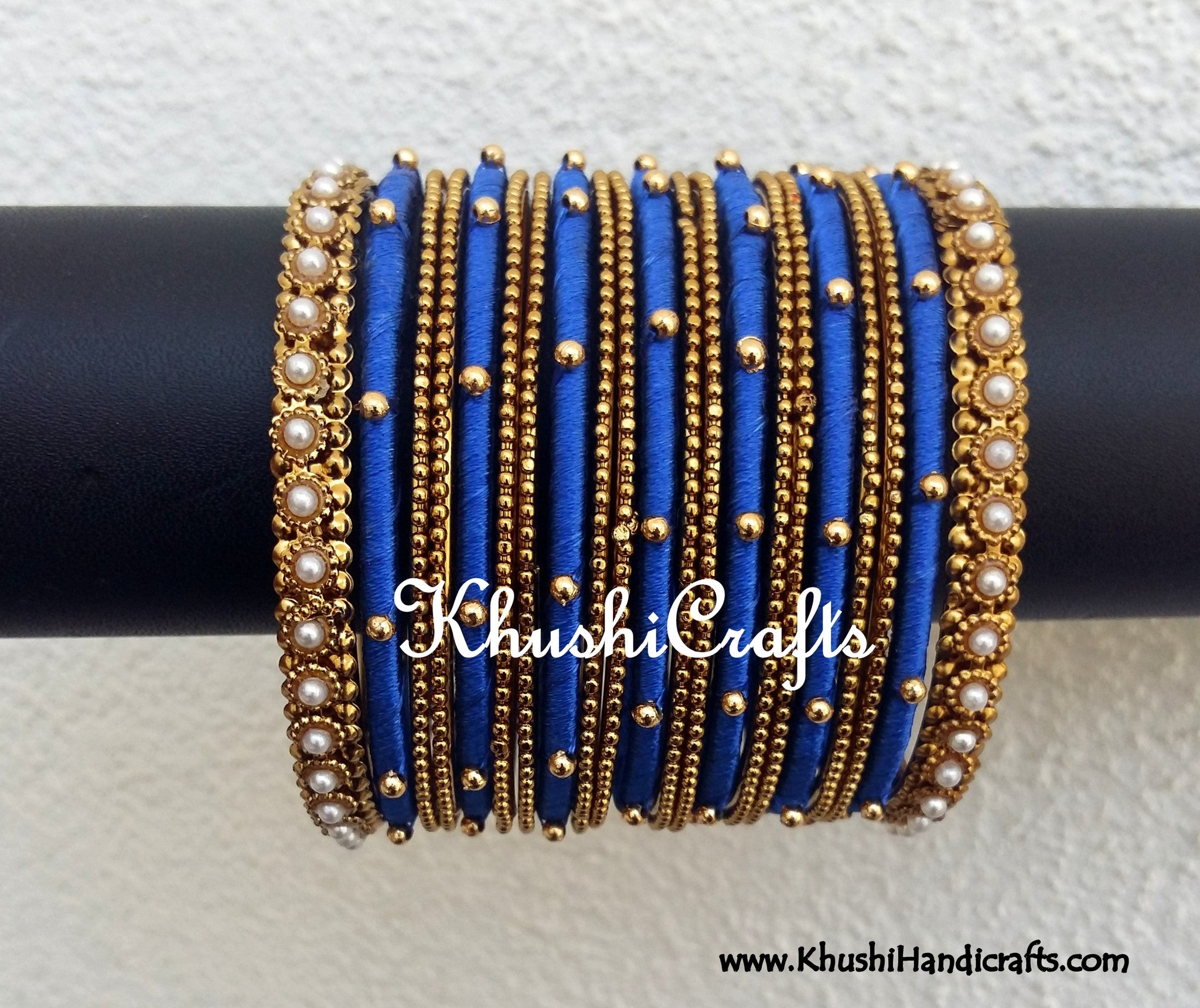 bangles work buy and products handicrafts loreal silk online in gold with khushi thread pink