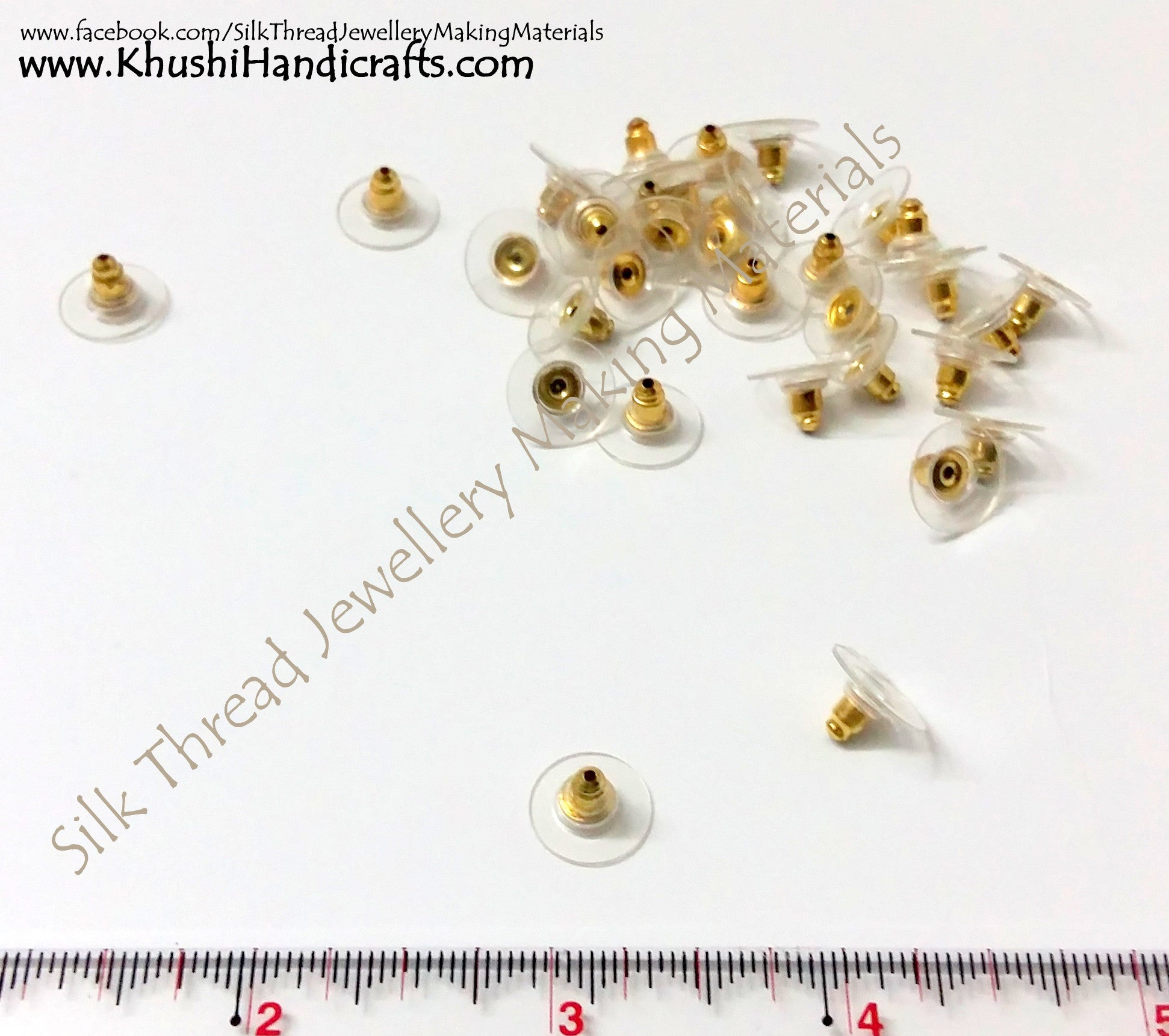 Stoppers/Stopper Pack of 10 pairs in Gold and Silver - Khushi Handmade Jewellery