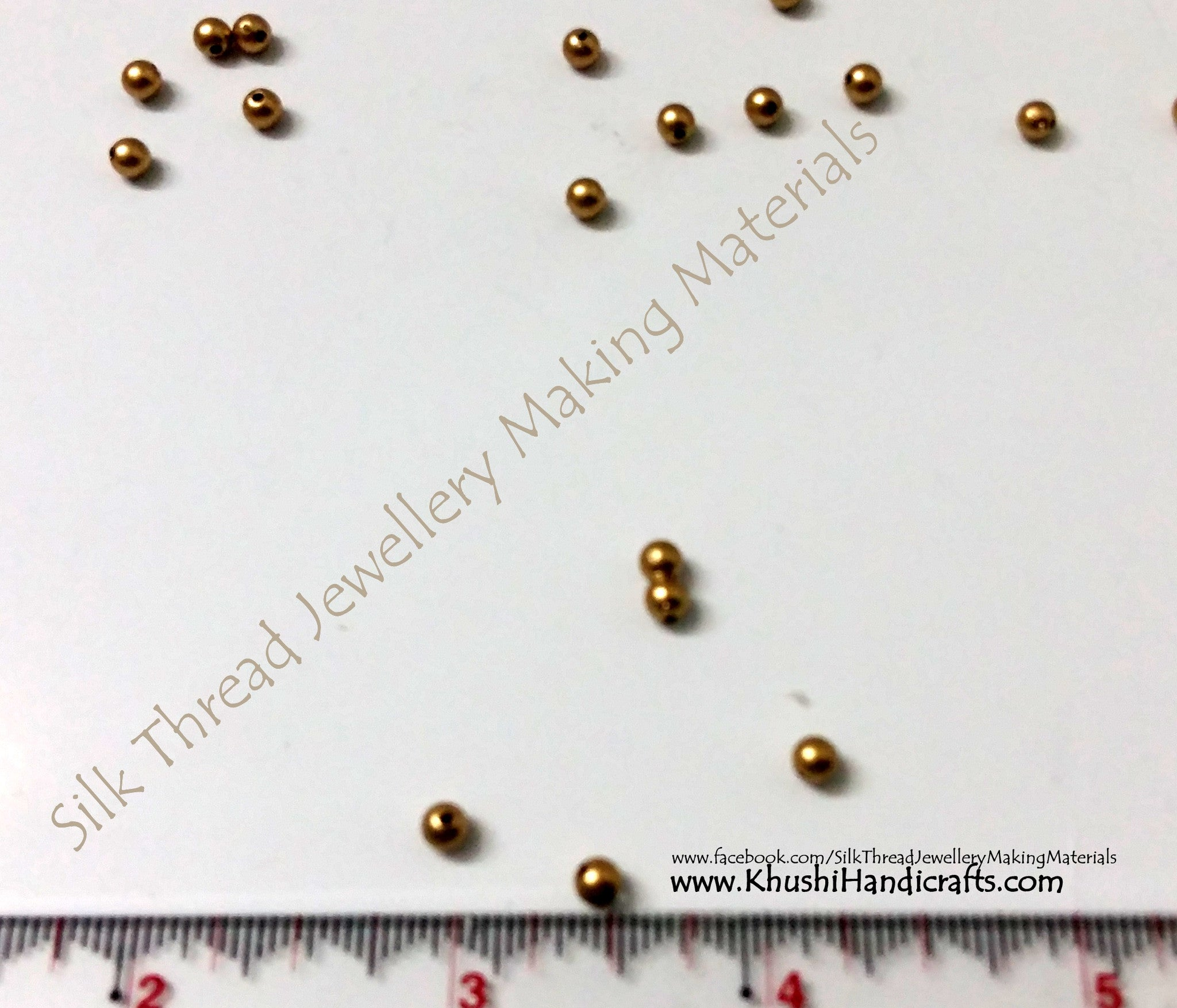 Plain Gold beads Pack of 10 grams - Khushi Handmade Jewellery