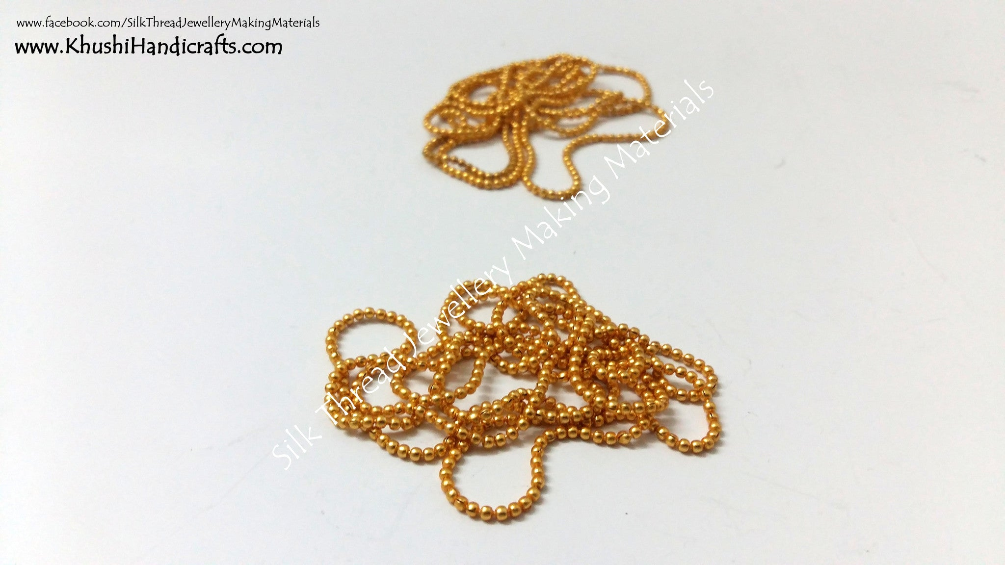 Micro-plated Ball Chain - Khushi Handmade Jewellery