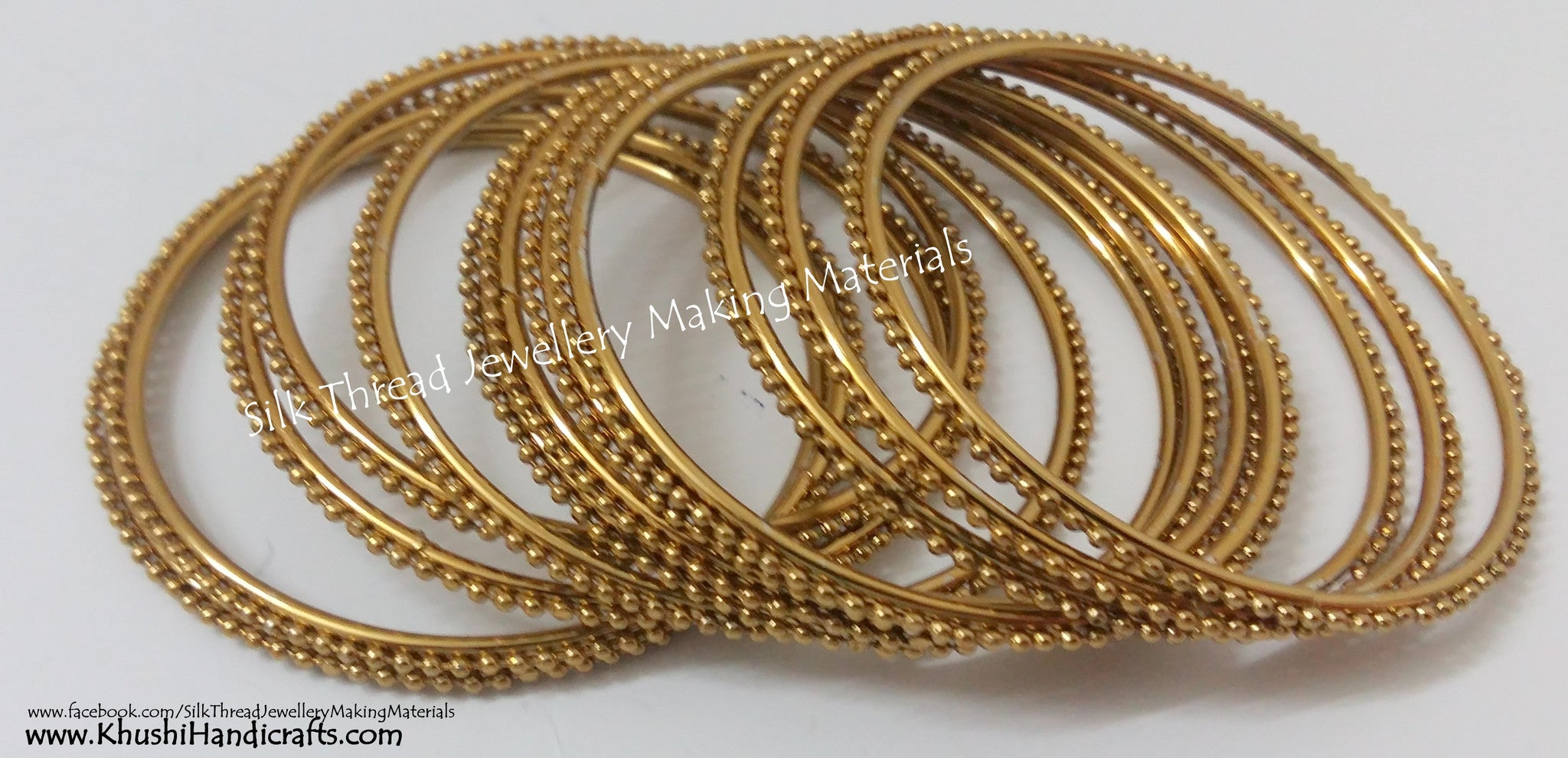 Beaded Metal Bangles - Khushi Handmade Jewellery