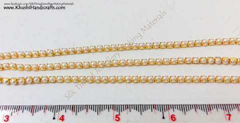 Pearl Chain.Sold as a pack of 5 meters!