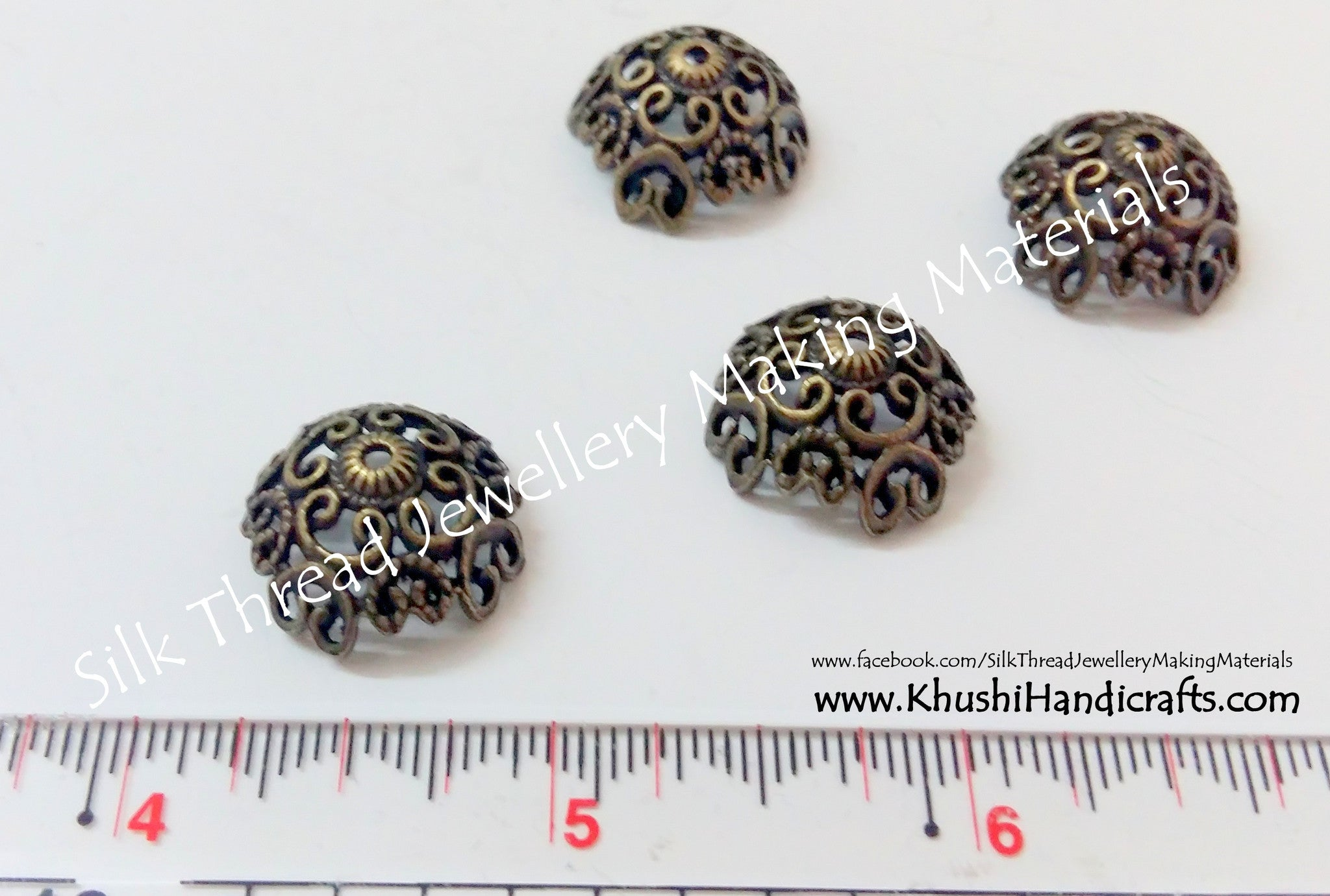 Antique Gold Bead Cap 22mm - Khushi Handmade Jewellery