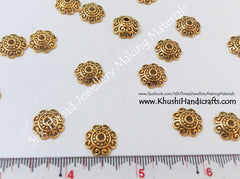 Antique Gold Bead Cap 12mm - Khushi Handmade Jewellery