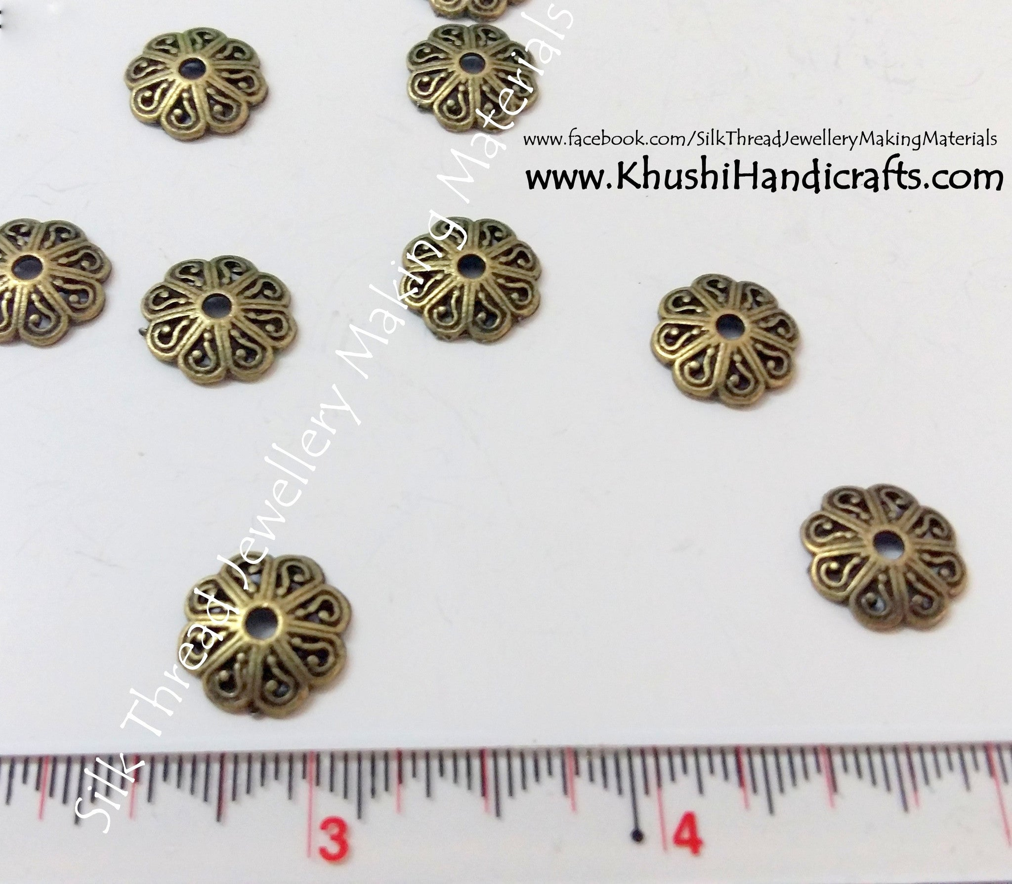Antique Gold Bead Cap,jewellery making materials