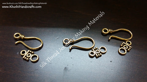 Hook and Eye Clasps in Gold -T17