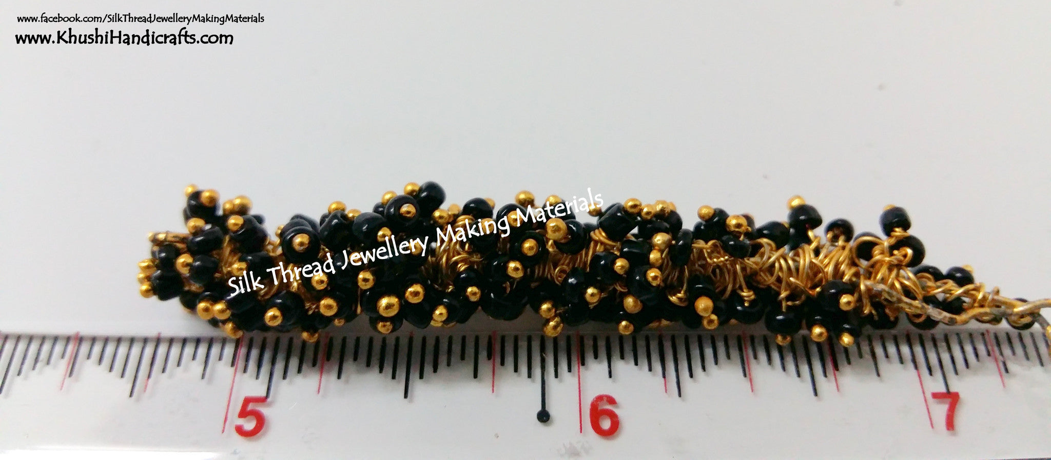 Black Loreal /Loreals, Pack of 10grams - Khushi Handmade Jewellery