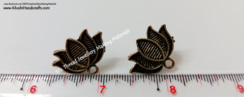 Antique Gold Lotus Studs -ST19