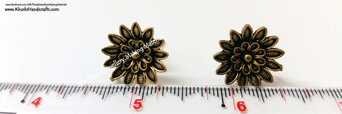 Antique Gold Flower Studs 1