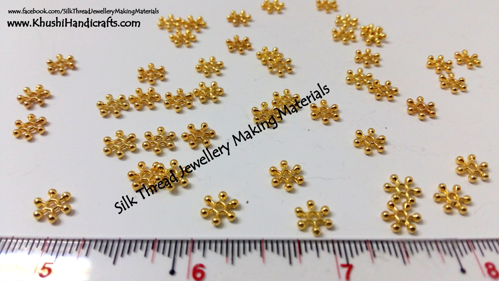 Gold Chakris (Sold in a pack of 10 grams) - Khushi Handmade Jewellery