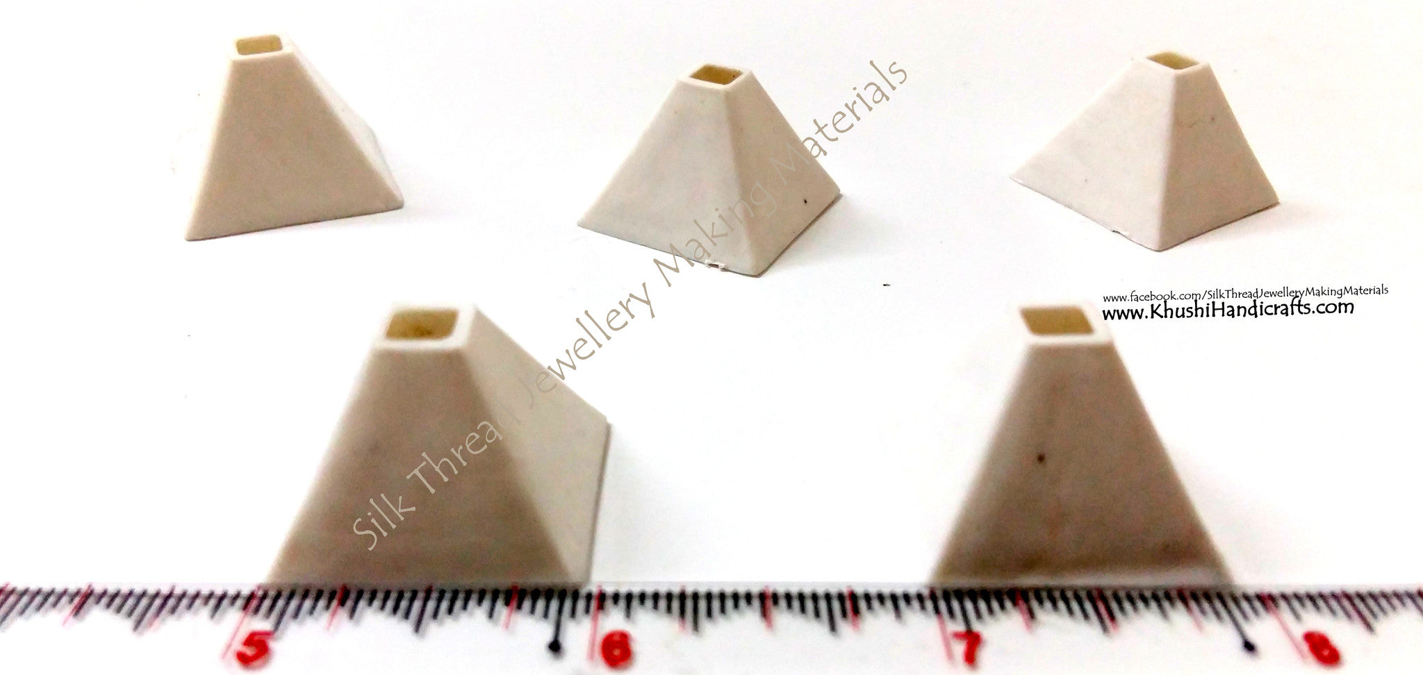 Pyramid shaped Jhumkas Bases.Sold as a pack of 10 pairs! - Khushi Handmade Jewellery