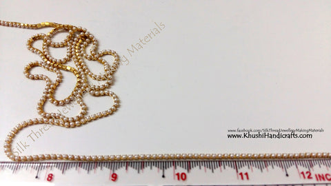 Pearl Chain Small.Sold as a pack of 5 meters!