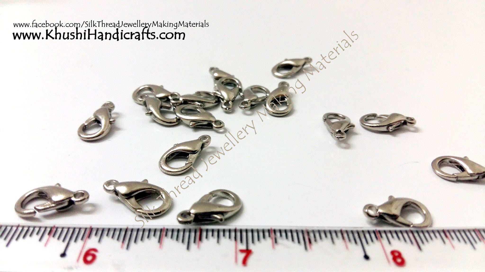 Lobster Clasps in Silver.Sold per piece! - Khushi Handmade Jewellery