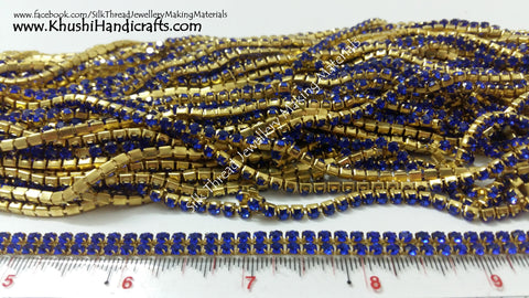 Dark Blue Stone Chain.Sold as a pack of 5 meters!