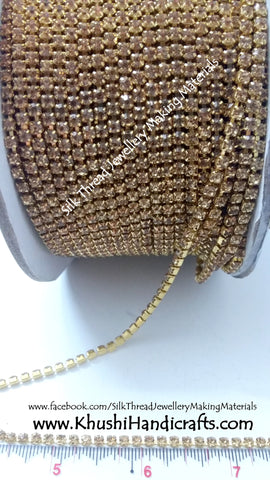 Gold Stone Chain.Sold as a pack of 5 meters!
